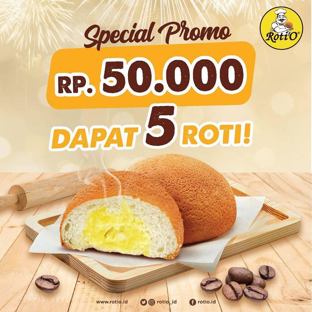 Roti'O Spesial Promo Rp. 50.000 Dapat 5 Roti