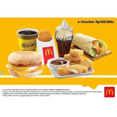 Blibli.Com Promo E-Voucher McDonald's Rp 83.000