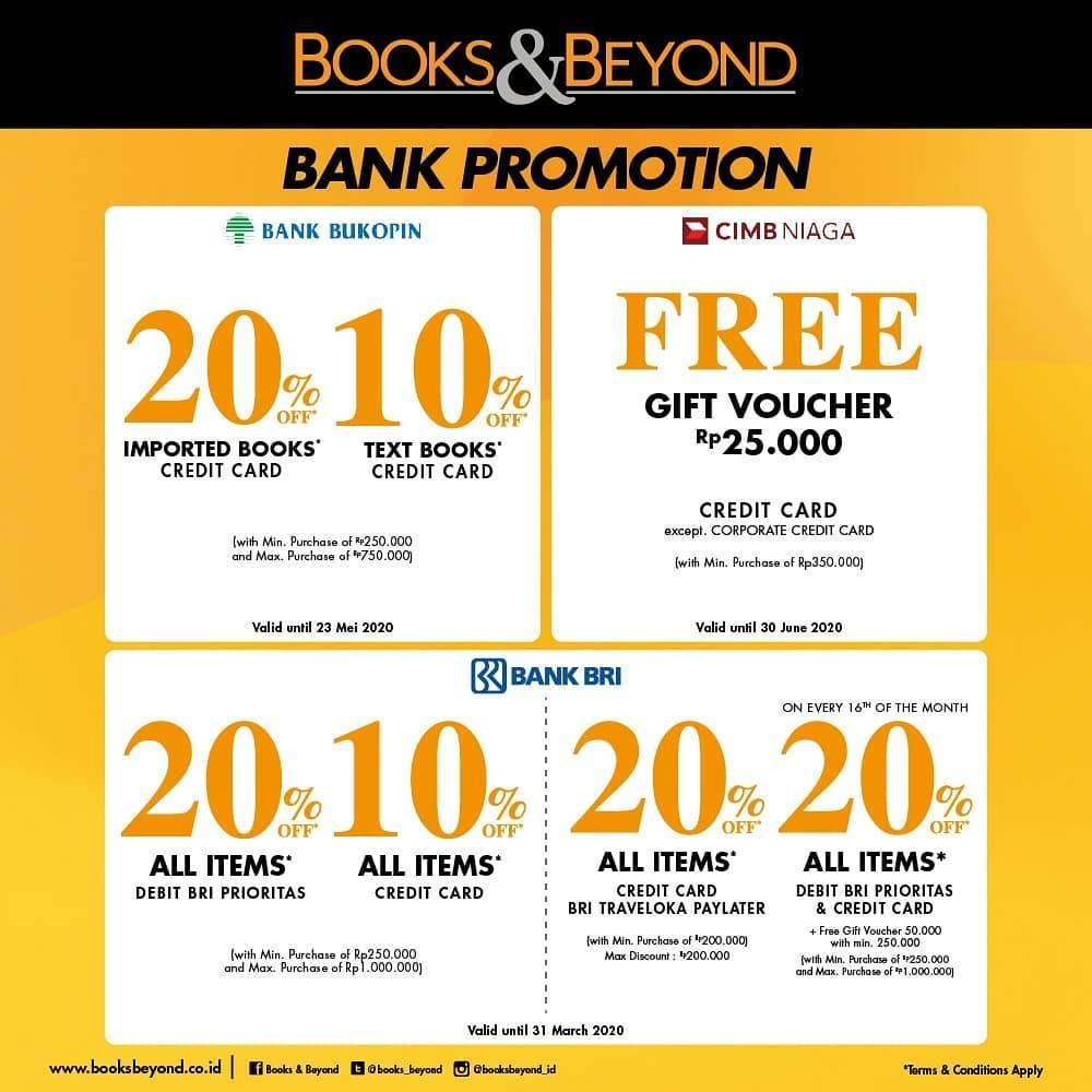 Books And Beyond Promo Diskon Mulai Dari 10% Dari Bank Pilihan