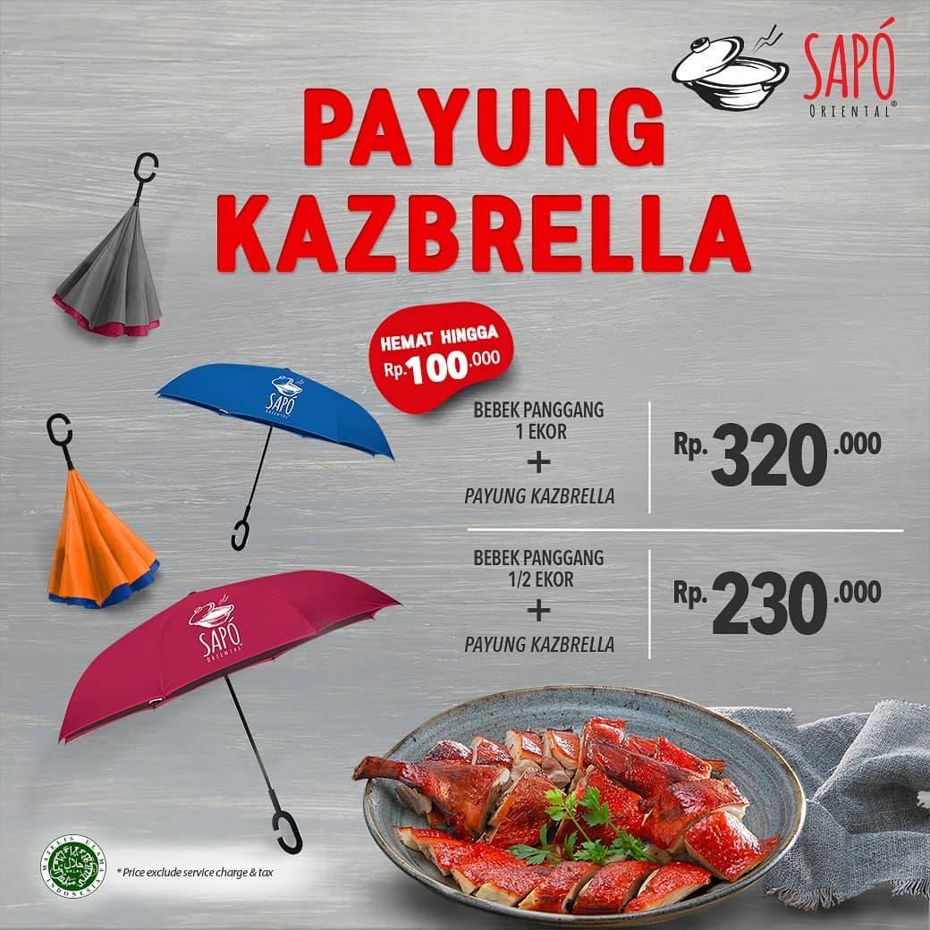 Sapo Oriental Promo Payung Kazbrella + Bebek Panggang Mulai Dari  Rp. 230.000