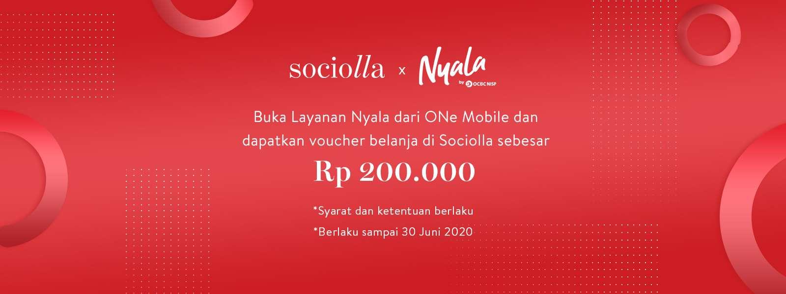 Sociolla Promo Voucher Belanja Rp. 200.000 Dengan Buka Layanan Nyala One Mobile