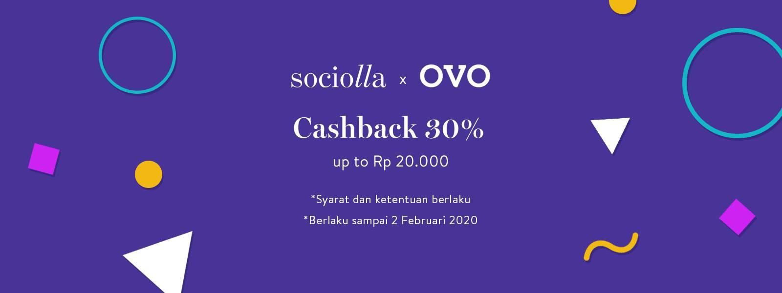 Sociolla Promo cashback 30% Up To Rp. 20.000 Menggunakan OVO