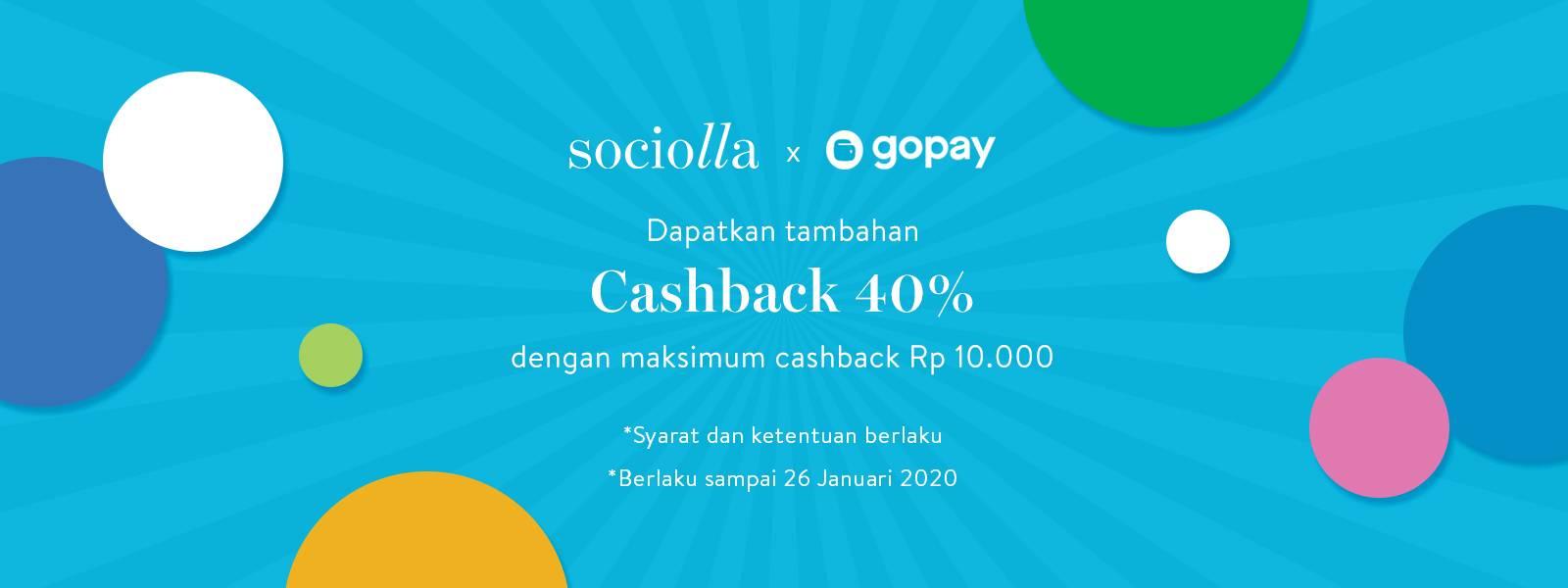 Sociolla Promo cashback 40% Hingga Rp. 10.000 Menggunakan Gopay