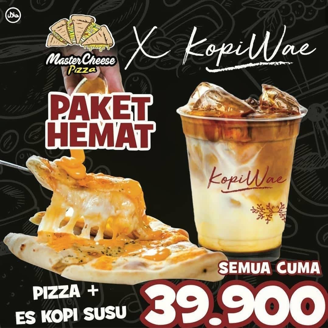 Master Cheese Promo Paket Hemat, Dapatkan Pizza + Es Kopi Susu Cuma Rp. 39.900