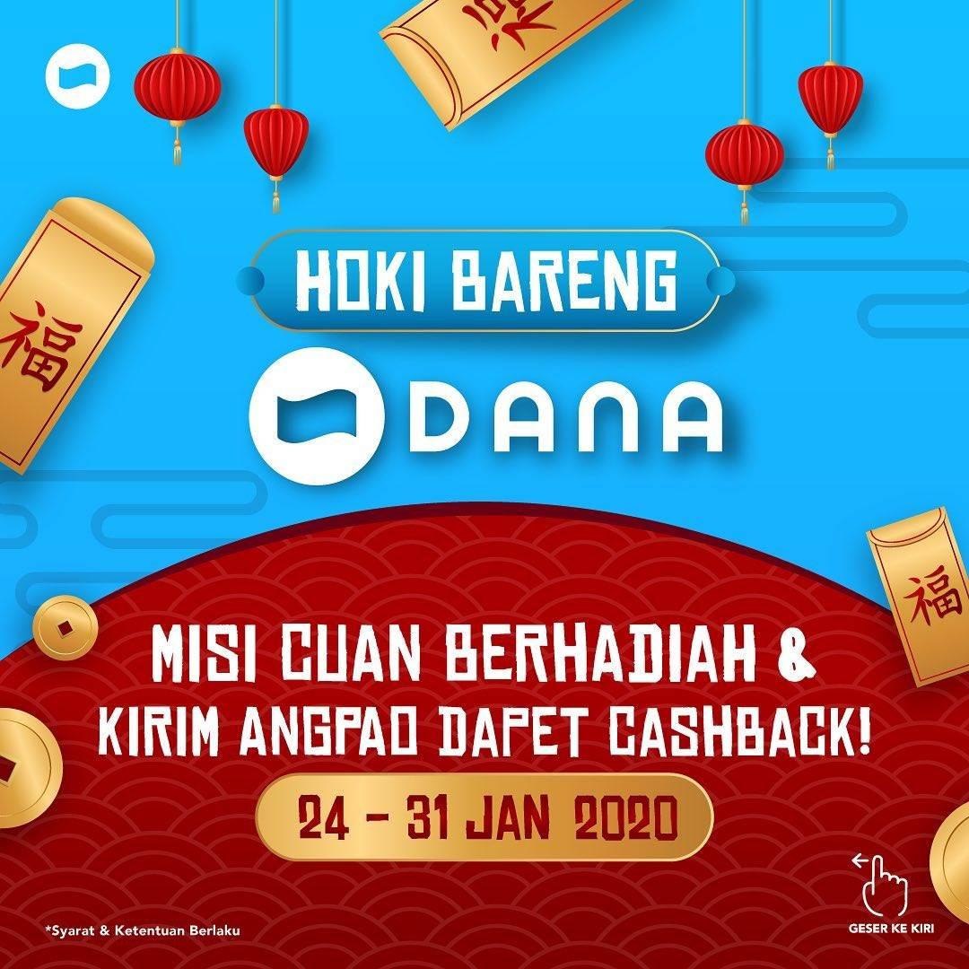 Dana Promo Misi Cuan Berhadiah & Kirim Angpao Dapet Cashback