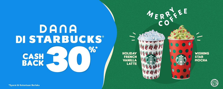 Dana Promo Cashback 30% Dengan Pembelian Minuman Starbucks