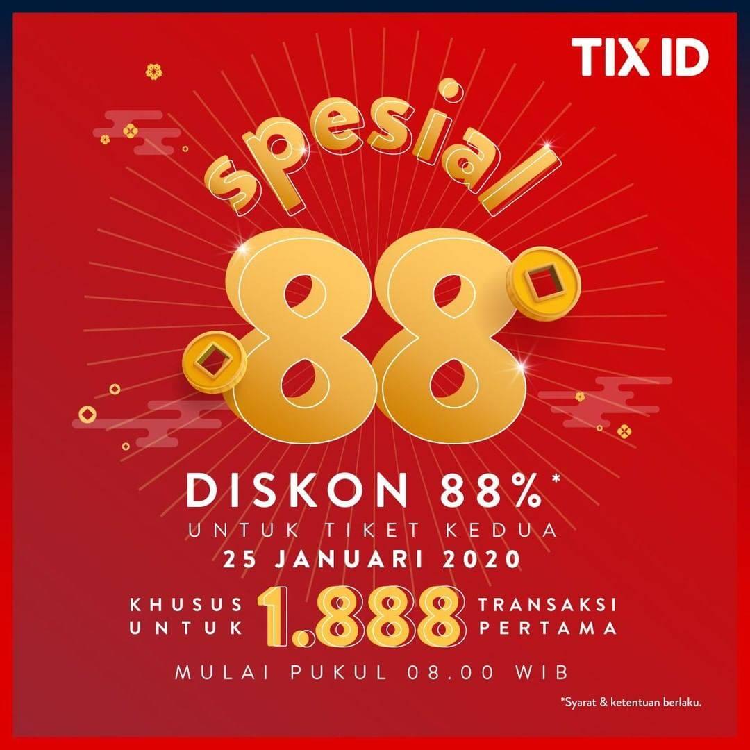 TIX ID Promo Diskon 88% Untuk Tiket Kedua Khusus Tanggal 25 Januari 2020
