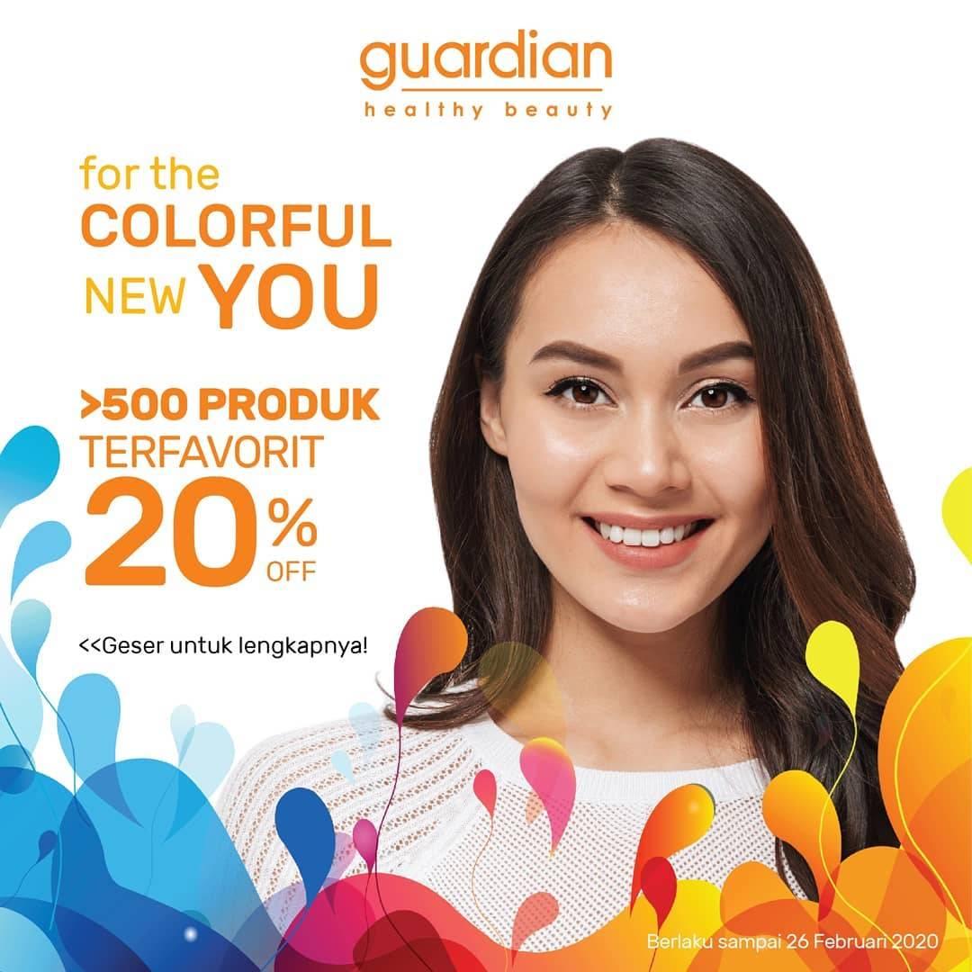 Guardian Promo Diskon 20% Untuk Lebih Dari 500 Produk Pilihan