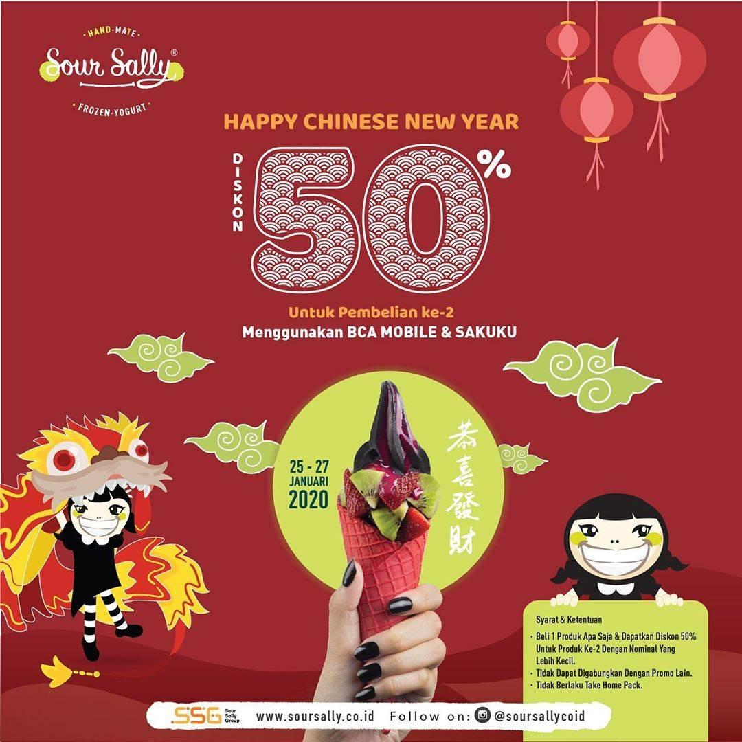Sour Sally Promo Diskon 50% Untuk Pembelian Kedua Dengan BCA Mobile dan Sakuku