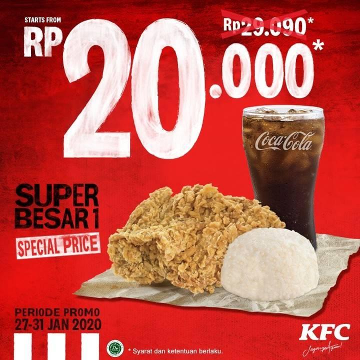 KFC Promo Super Besar 1 Hanya Rp. 20.000,-