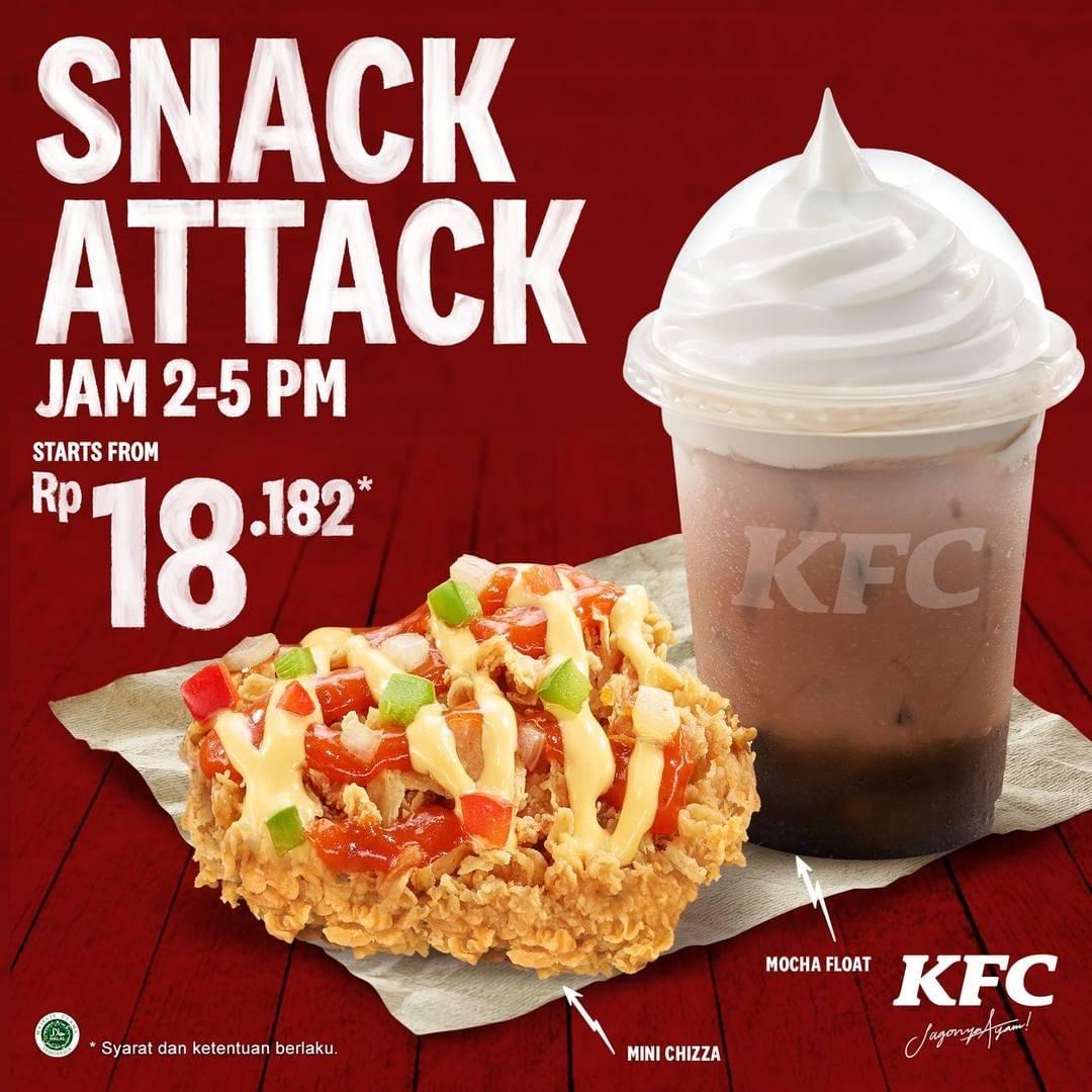 KFC Promo 1Pc Mini Chizza Dan 1 Cup Mocha Float Mulai Dari Rp. 18.182,-