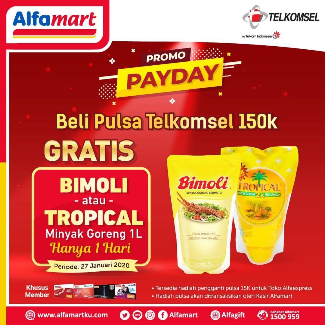 Alfamart Promo Beli Pulsa Rp. 150.000 Gratis Minyak Goreng 1Liter
