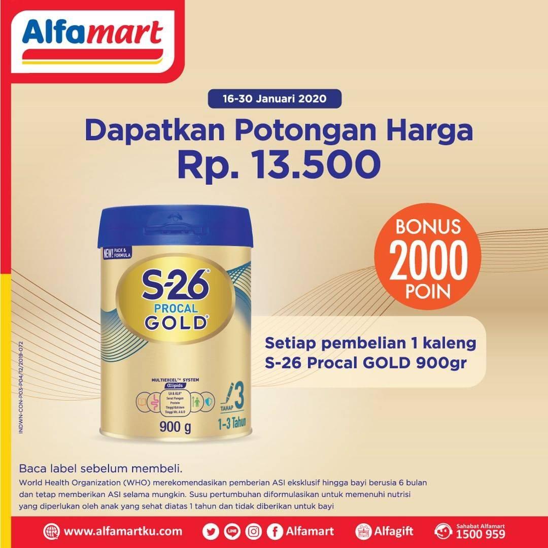Alfamart Promo Potongan Harga Rp. 13.500 Setiap Pembelian S 26 Procal Gold