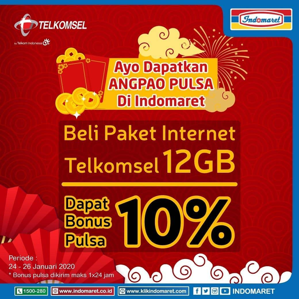 Indomaret Promo Beli Pakey Maxstream Gala 15Gb Atau 30Gb Dapatkan Bonus Pulsa 10%