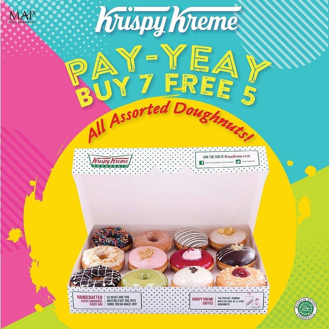 Krispy Kreme Promo Pay Yeay, Buy 7 Free 5 For All Assorted Doughnut