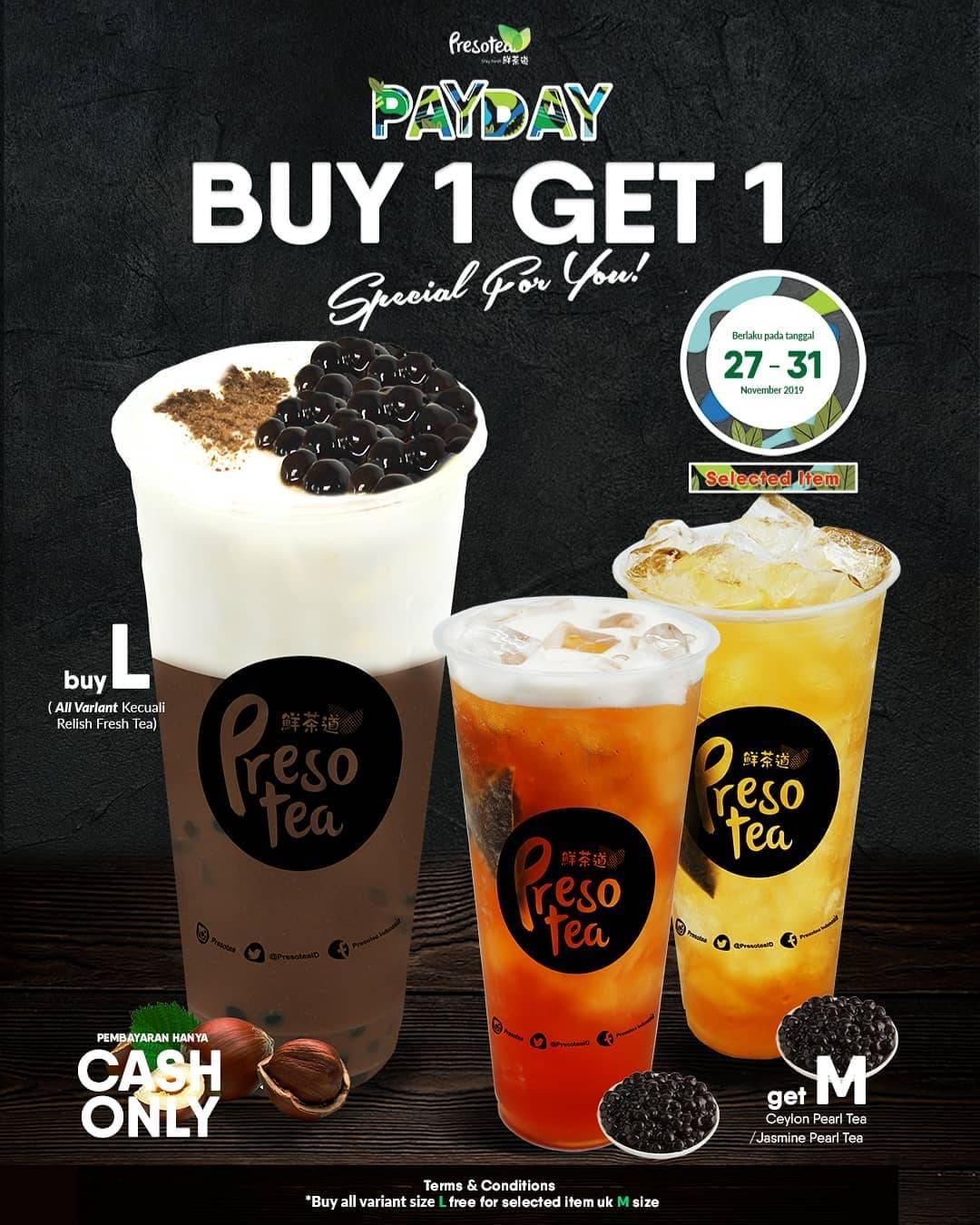 Presotea Promo Buy 1 Get 1 Untuk Minuman Pilihan