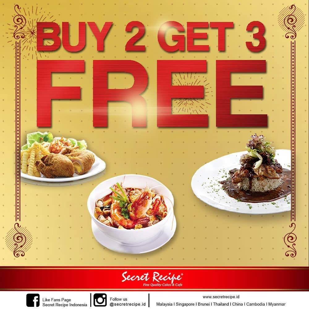 Secret Recipe Promo Buy 2 Get 3
