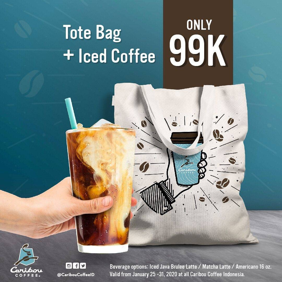 Caribou Coffee Promo Paket Tote Bag + Iced Coffee Cuma Rp. 99.000
