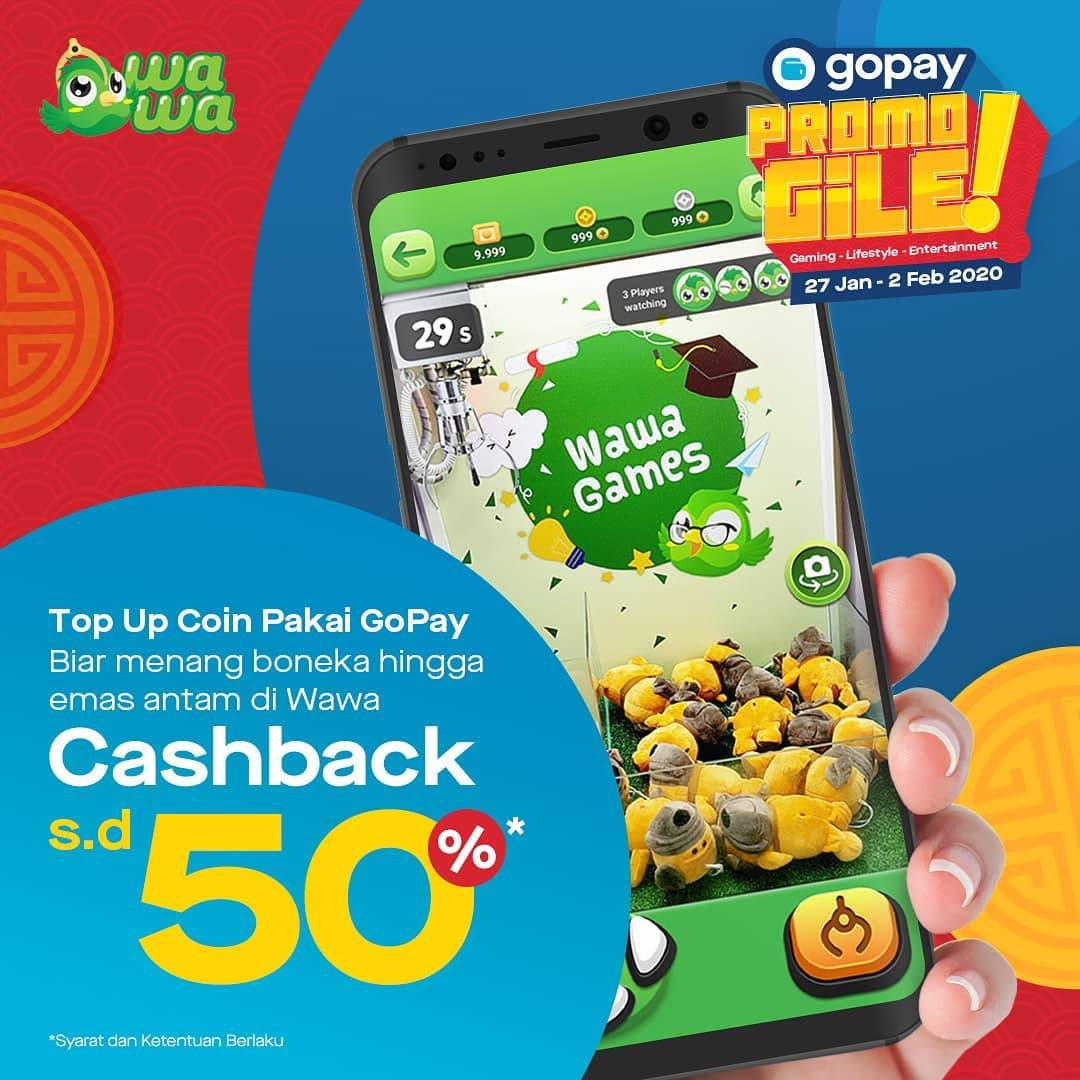 Gopay Promo Top Up Game Di Wawa Games Dapatkan Cashback Hingga 50%