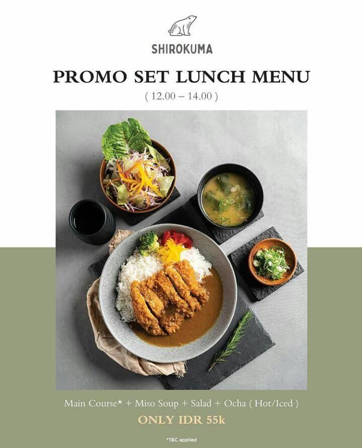 Cafe Shirokuma Promo Set Lunch Menu Only IDR 55.000
