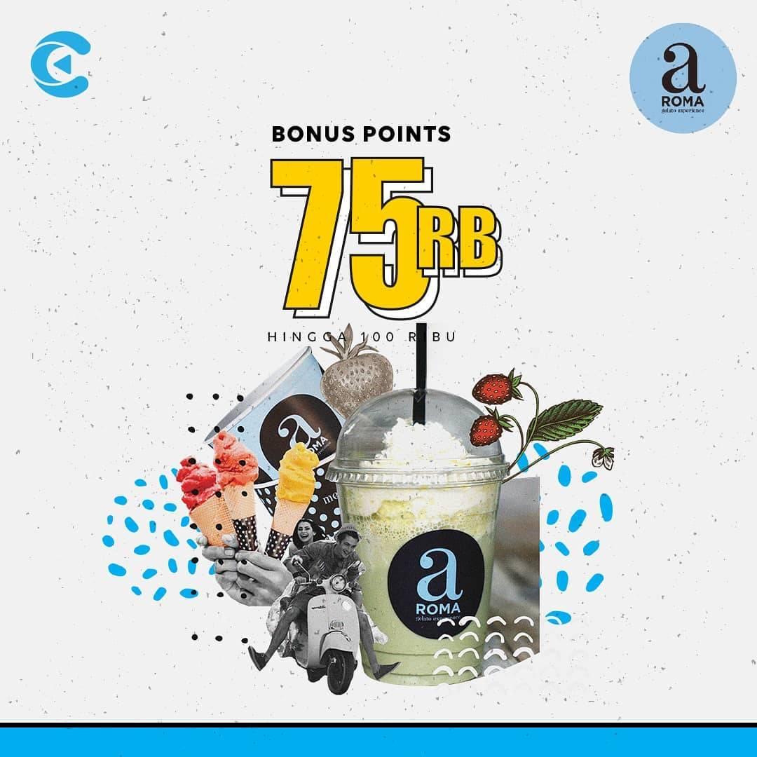Aroma Gelato Promo Bonus Point 75 Ribu Minimum Belanja 350.000 Menggunakan Cashbac App