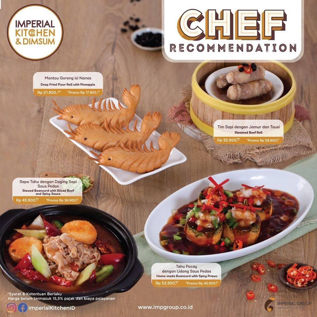 Imperial Kitchen & Dimsum Promo Menu Chef Recommendation, Harga Mulai Dari Rp. 17.900