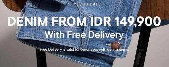 H&M Promo Special Price For Denim Item Start From IDR 149.900