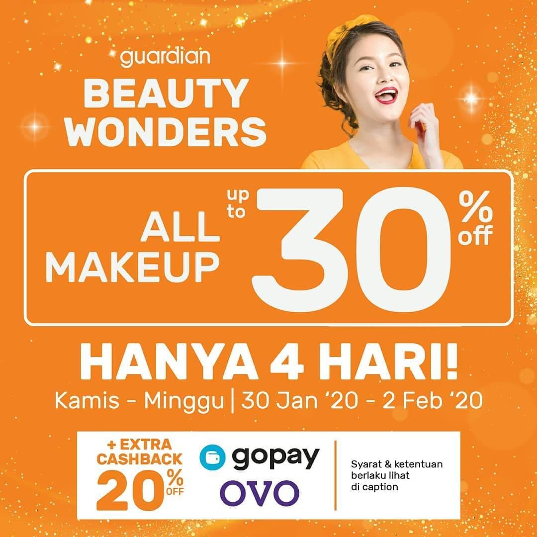 Guardian Beauty Wonders! Diskon Hingga 30% Untuk Produk Make Up