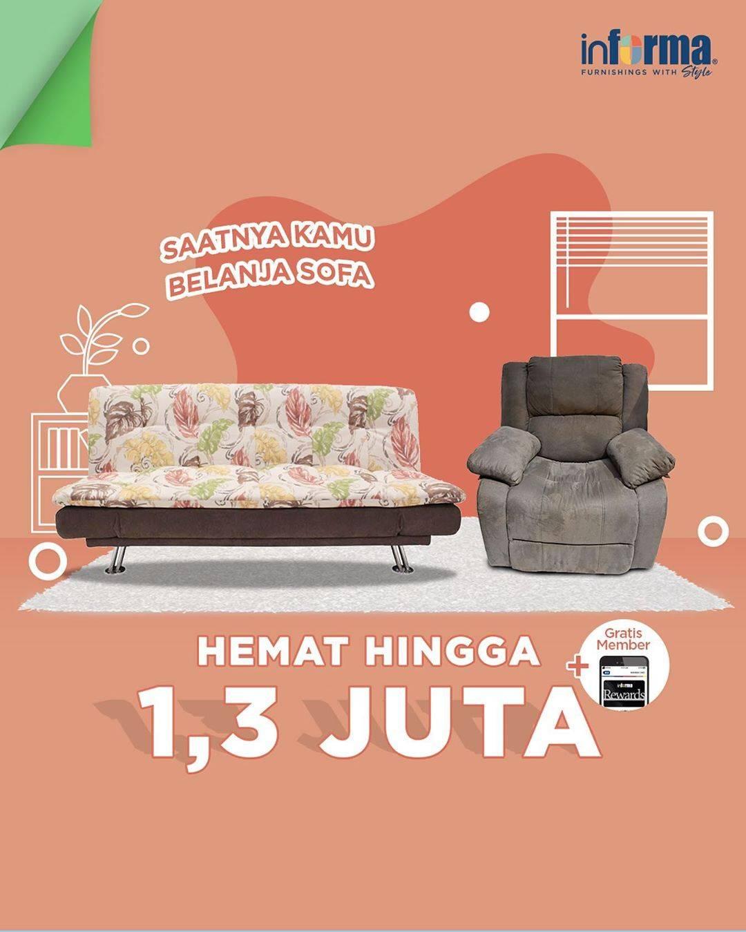Informa Promo Hemat Rp. 1,3 Juta + Gratis Member Untuk Pembelian Item Pilihan
