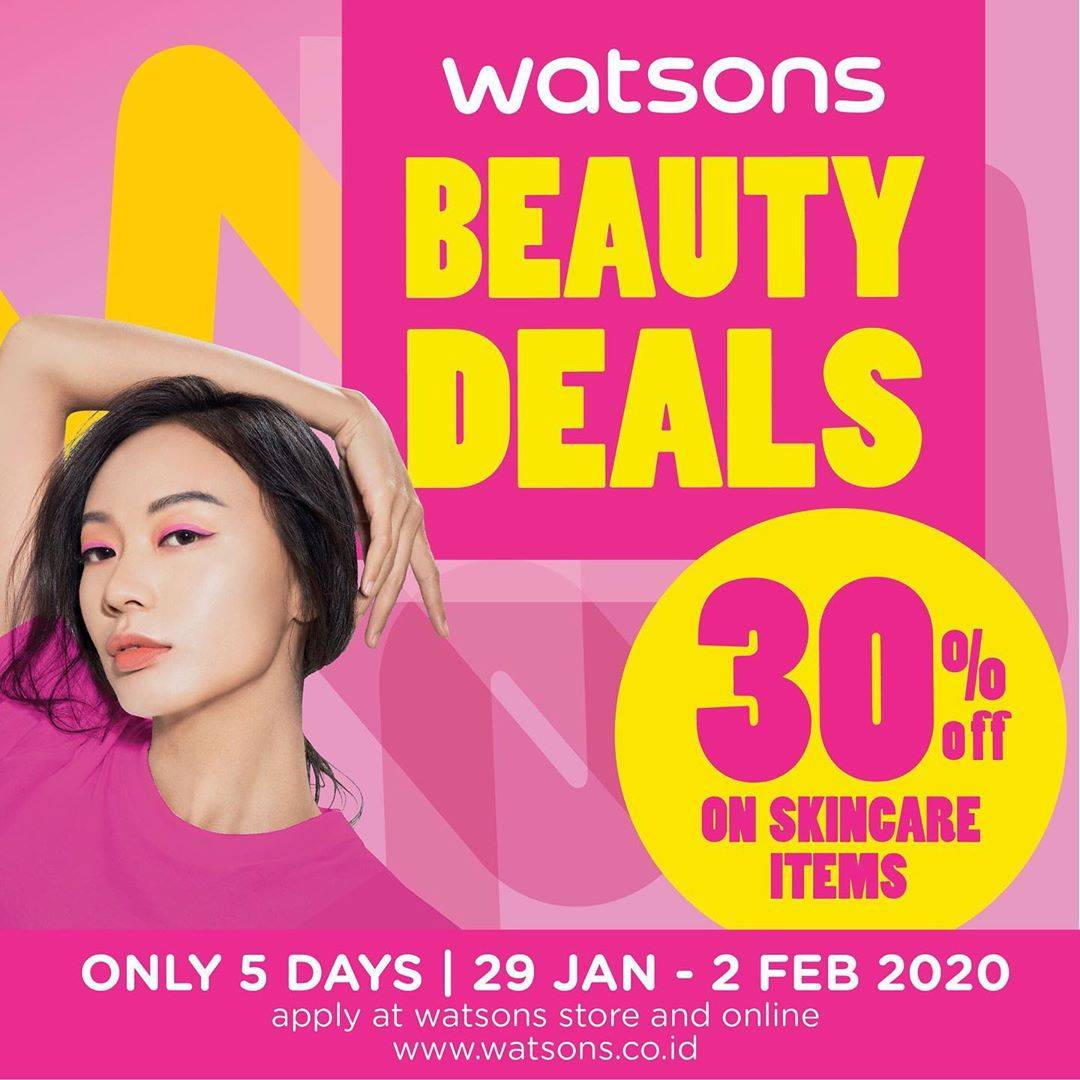 Watsons Promo Beauty Deals, Get Discount 30% Off For J-Beauty And K- Beauty Products