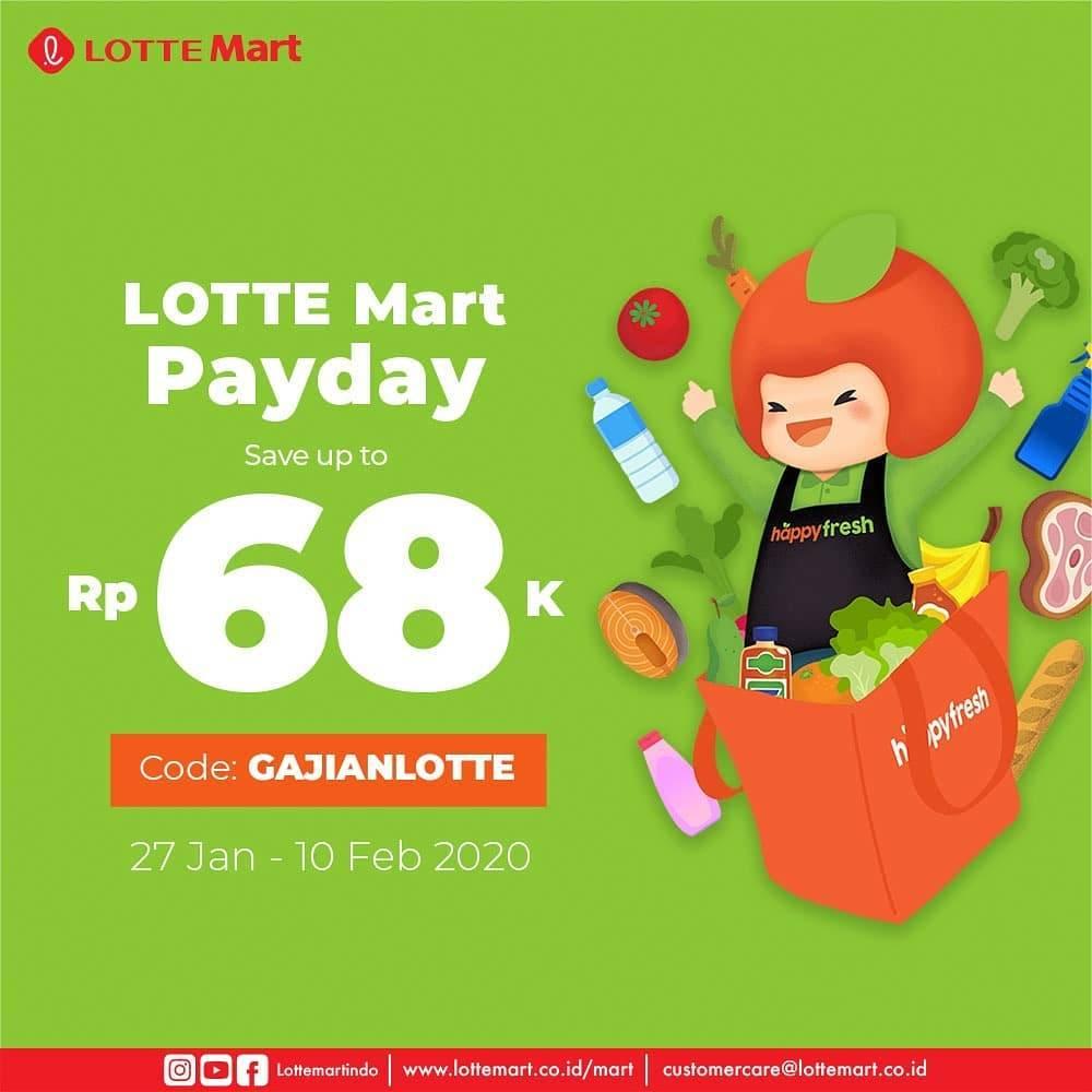 LotteMart Promo Happy Fresh, Hemat 68 Ribu Menggunakan Kode Voucher GAJIANLOTTE