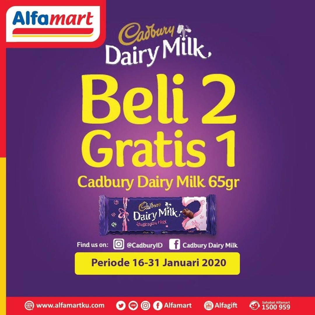 Alfamart Promo Beli 2 Gratis 1 Cokelat Cadburry Dairy Milk 65gr