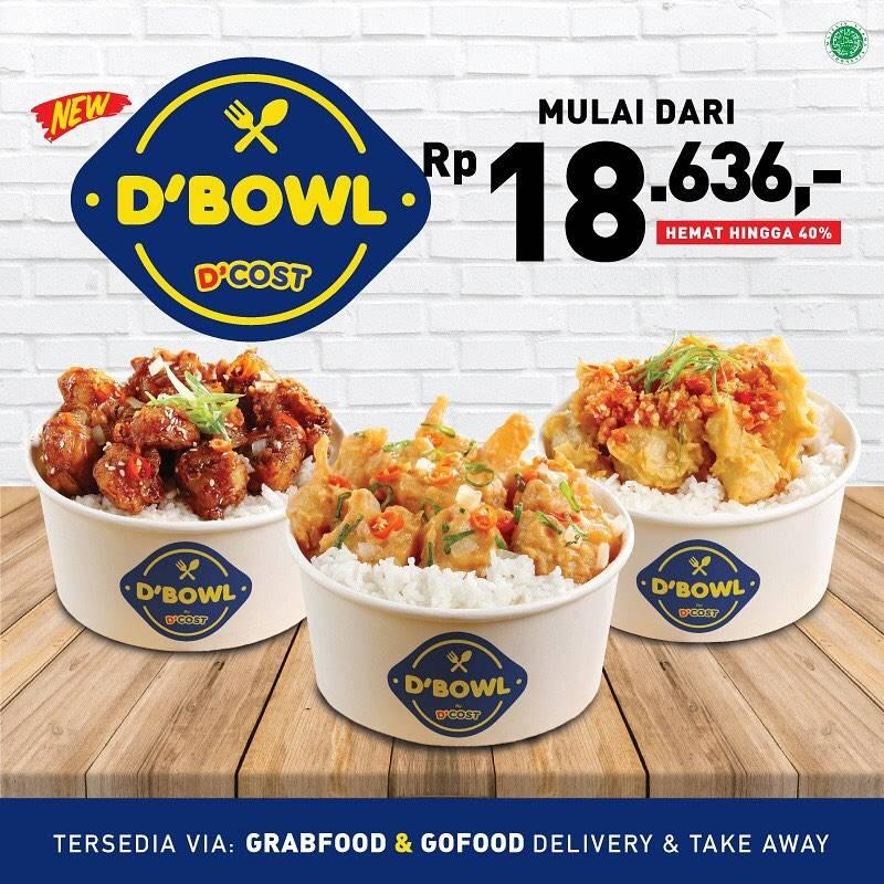 D'Cost Seafood Promo Harga Spesial Menu D'Bowl Mulai Dari Rp 18.636,- .