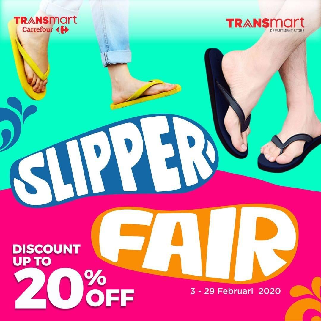 Transmart Carrefour Promo Slipper Fair,  Diskon 20% Untuk Sendal Pilihan