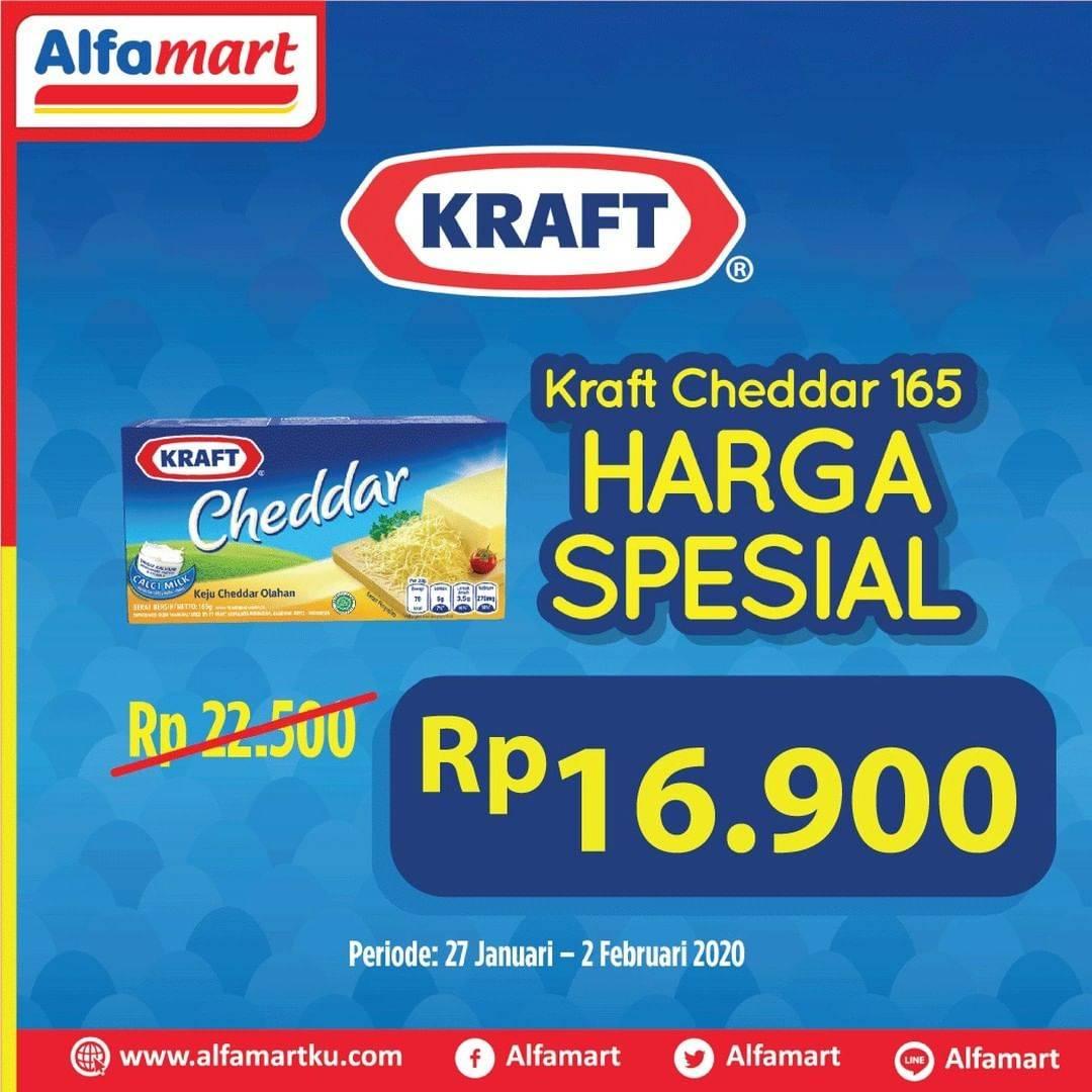 Alfamart Promo Harga Spesial Kraft Cheddar 165g Cuma Rp. 16.900