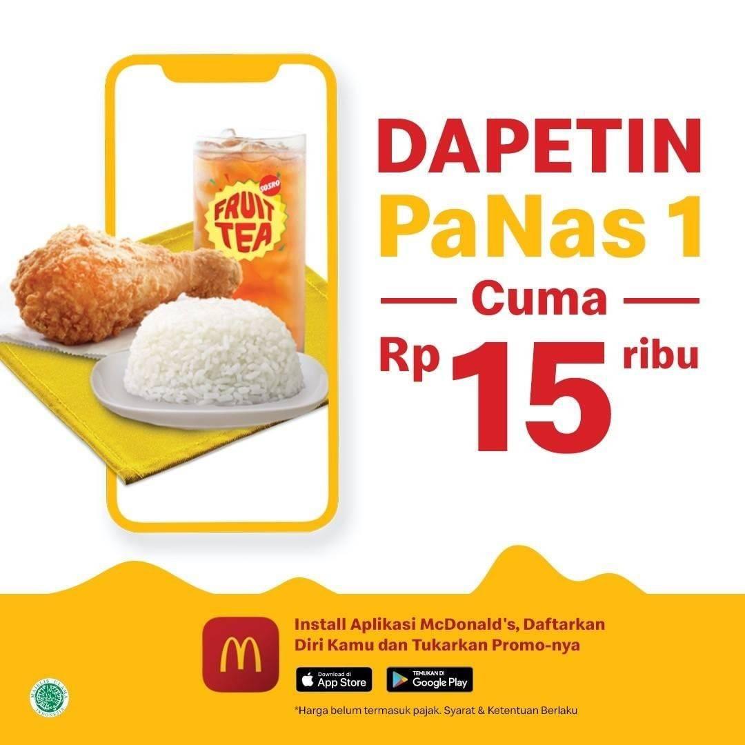 McDonalds Promo Menu Panas 1 Hanya Rp. 15.000 Pembelian Melalui App