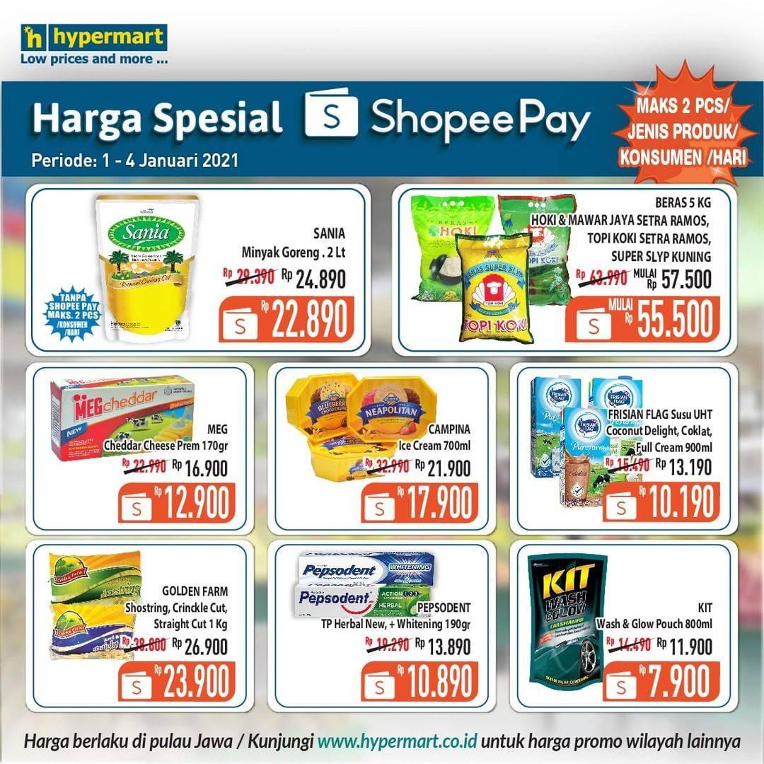 Diskon Hypermart Katalog Shopeepay 1- 4 Januari 2020