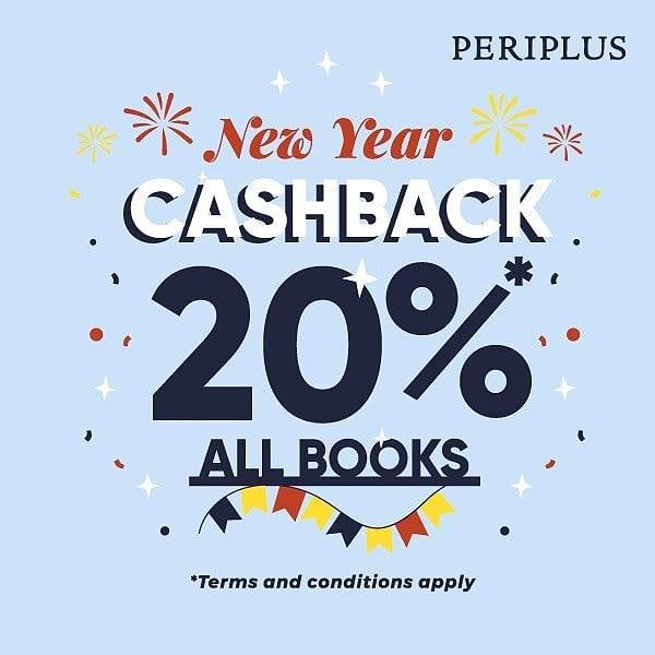 Diskon Periplus New Year Cashback 20% For All Books