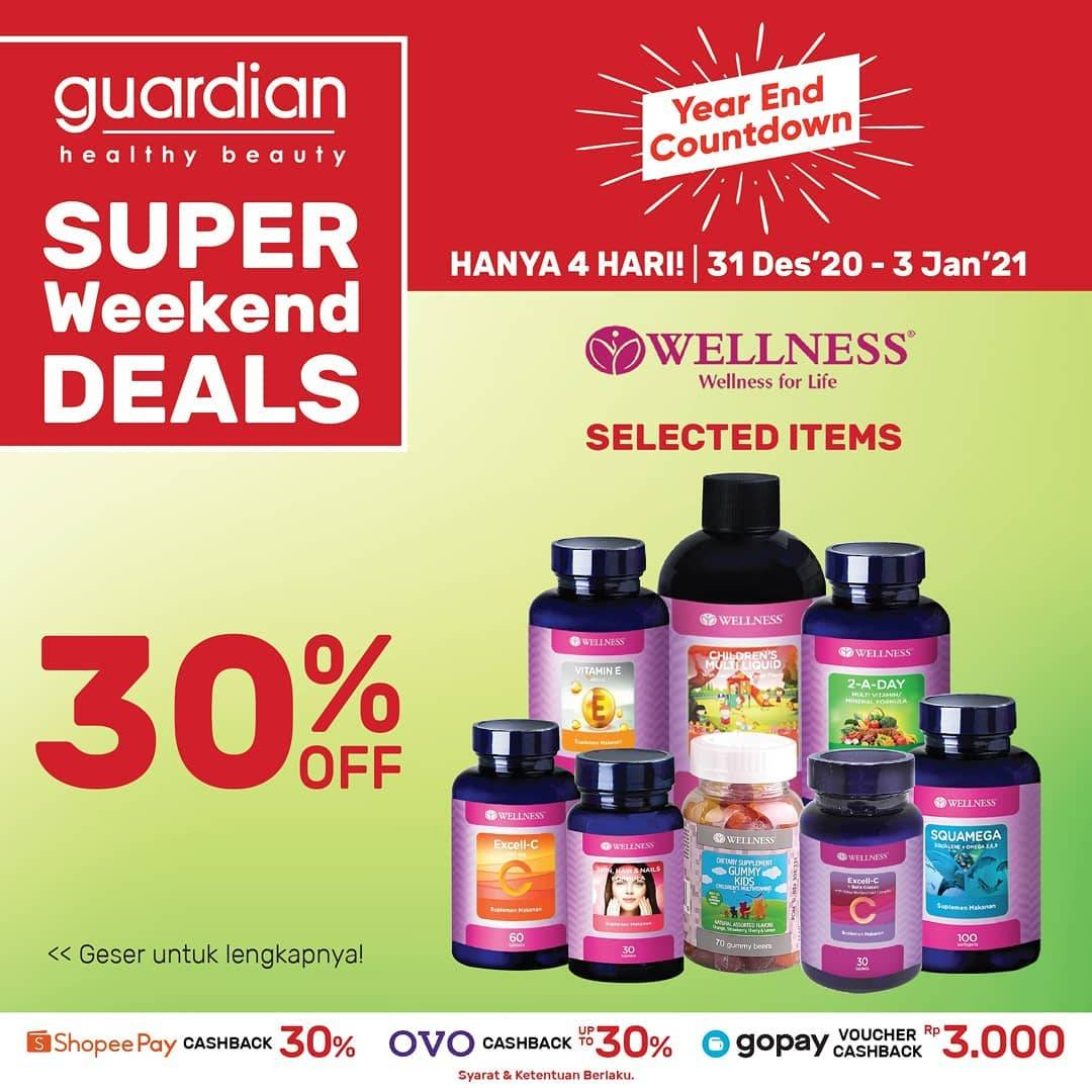 Diskon Guardian Super Weekend Deals Discount 30% Off On Wellness Products