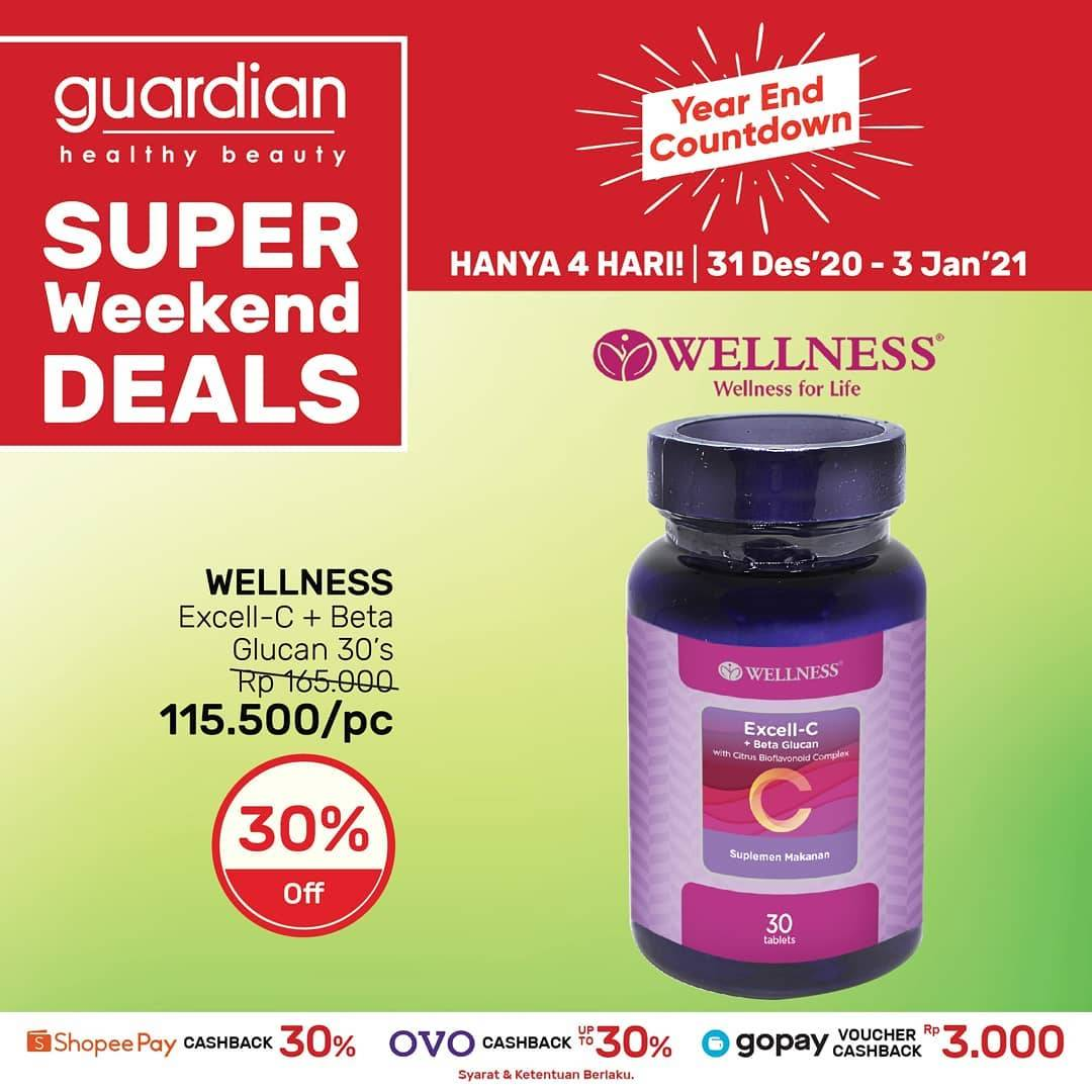 Promo diskon Guardian Super Weekend Deals Discount 30% Off On Wellness Products