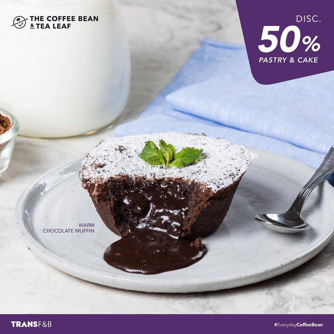 Diskon The Coffee Bean & Tea Leaf Disccount 50% Off On Pastry & Cake