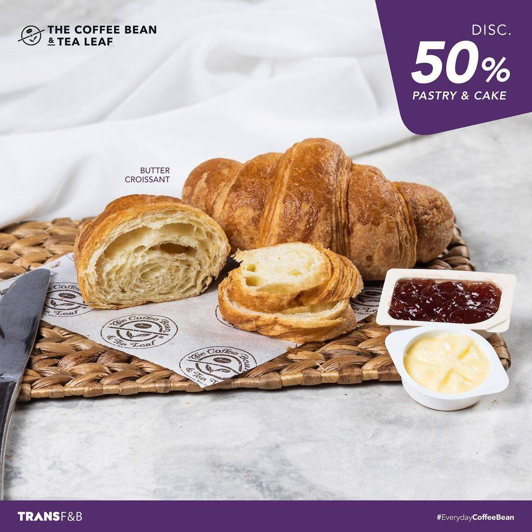 Promo diskon The Coffee Bean & Tea Leaf Disccount 50% Off On Pastry & Cake