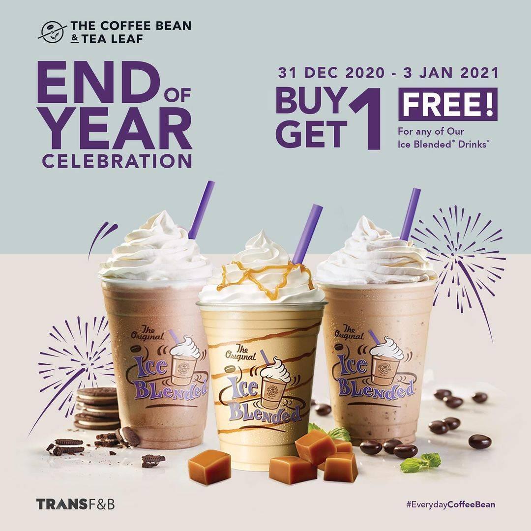 Diskon The Coffee Bean & Tea Leaf Buy 1 Get 1 Free Ice Blended