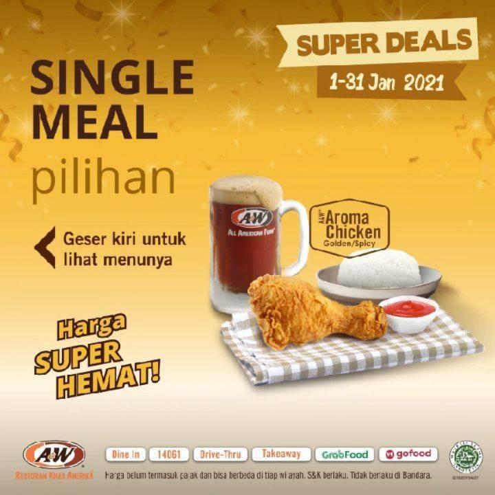 Diskon A&W Restaurant Promo Super Deals Single Meal