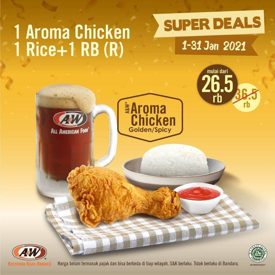 Promo diskon A&W Restaurant Promo Super Deals Single Meal