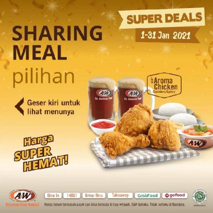 Diskon A&W Restaurant Promo Super Deals Sharing Meal