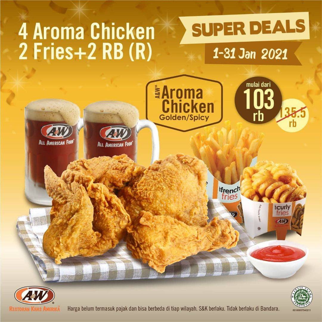 Promo diskon A&W Restaurant Promo Super Deals Sharing Meal
