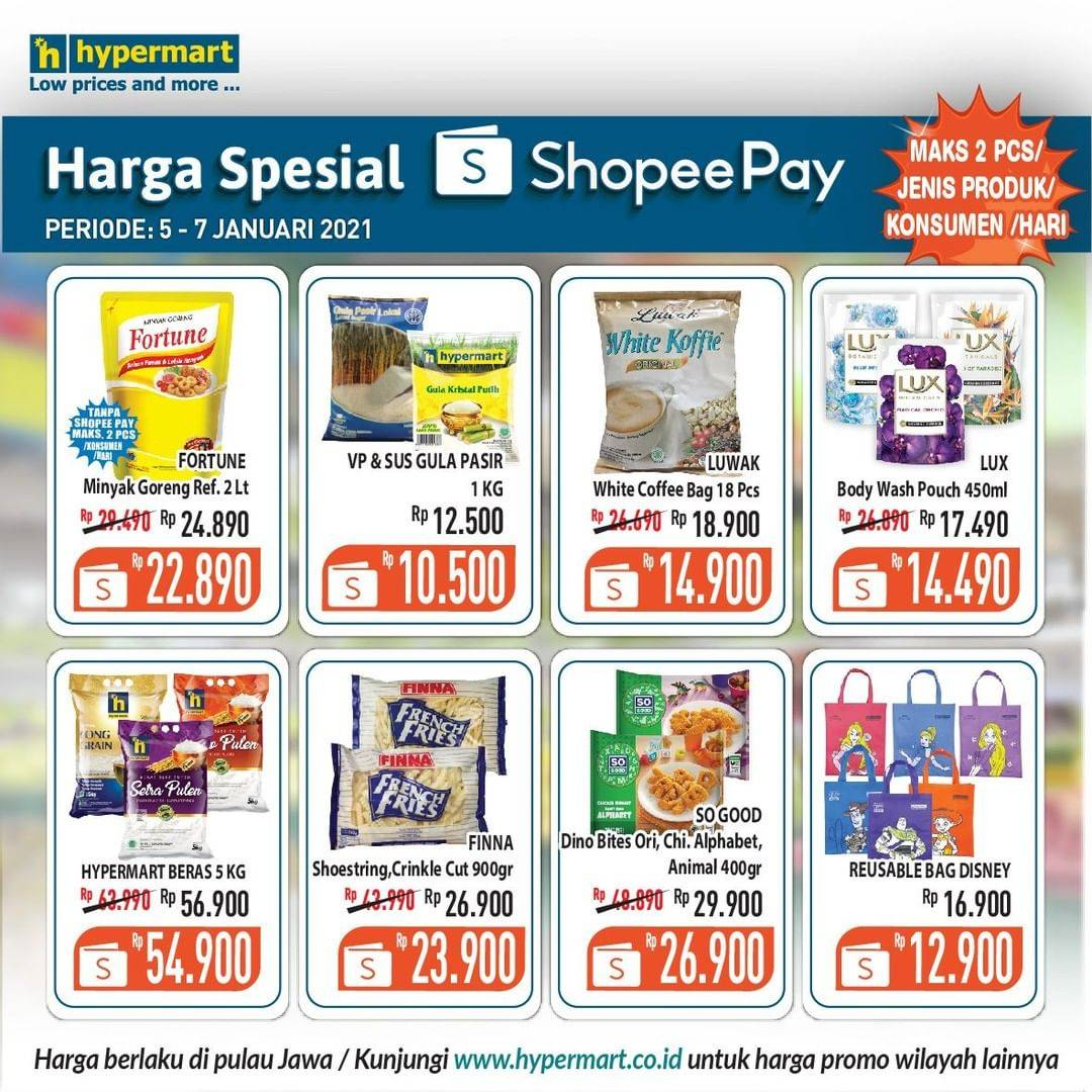 Diskon Hypermart Katalog Shopeepay Periode 5-7 Januari 2021