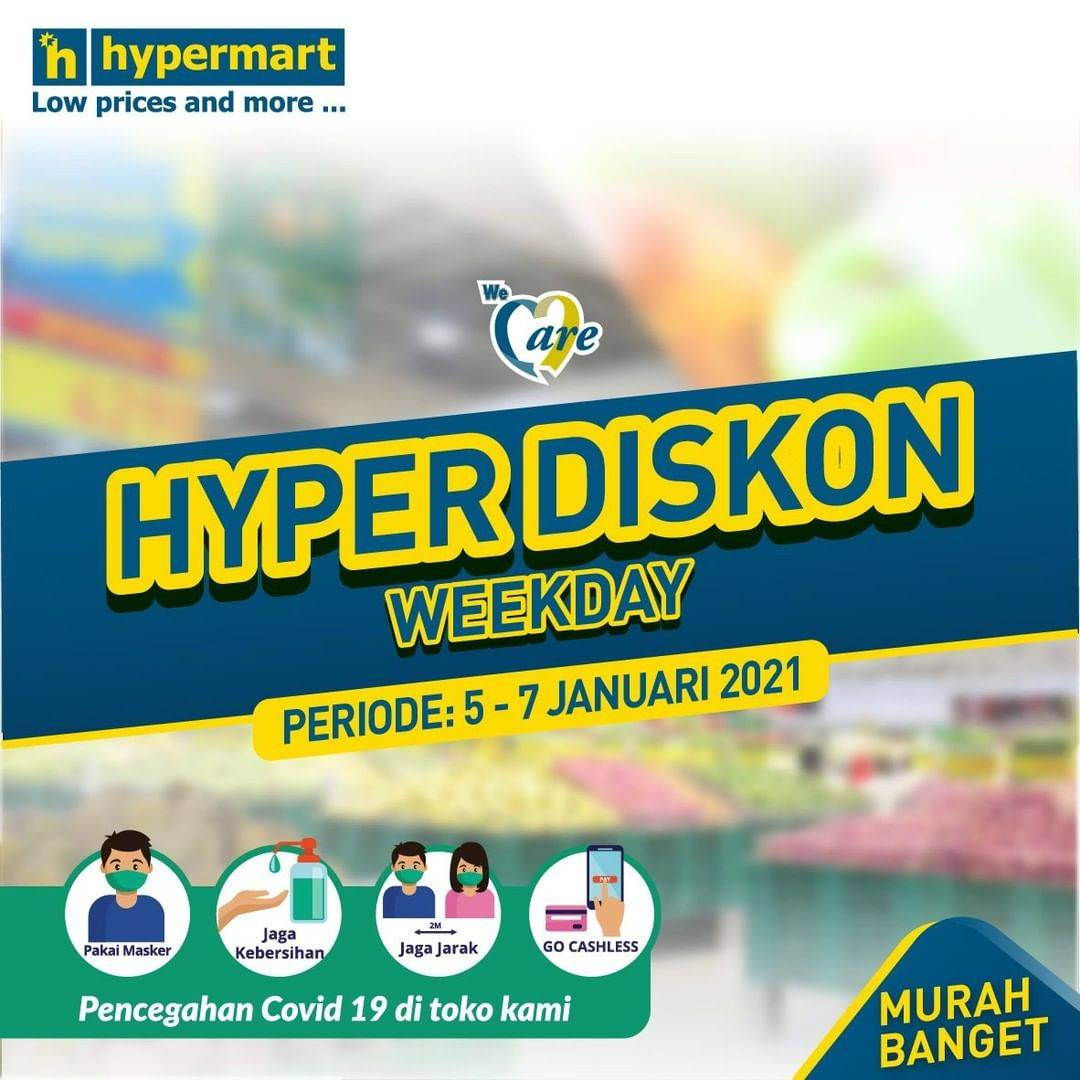 Diskon Hypermart Katalog Hyper Diskon Weekday Periode 5-7 Januari 2021