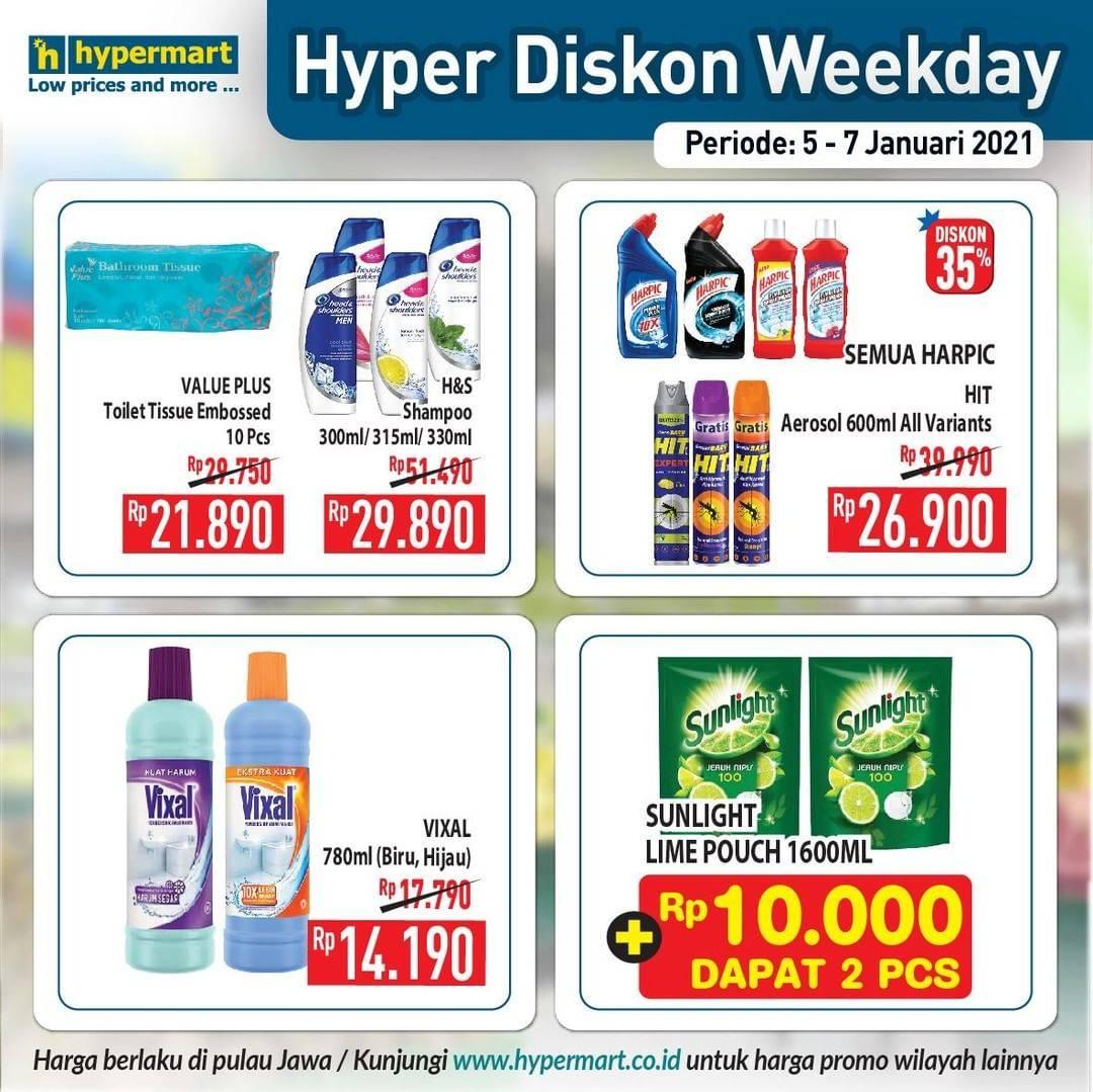 Promo diskon Hypermart Katalog Hyper Diskon Weekday Periode 5-7 Januari 2021